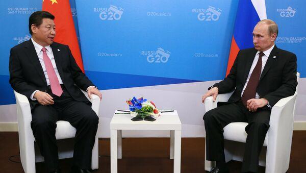 Двусторонняя встреча Владимира Путина с Си Цзиньпином