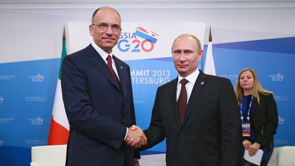 Встреча Владимира Путина с Энрико Леттой