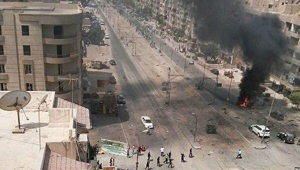На месте взрыва бомбы в Каире