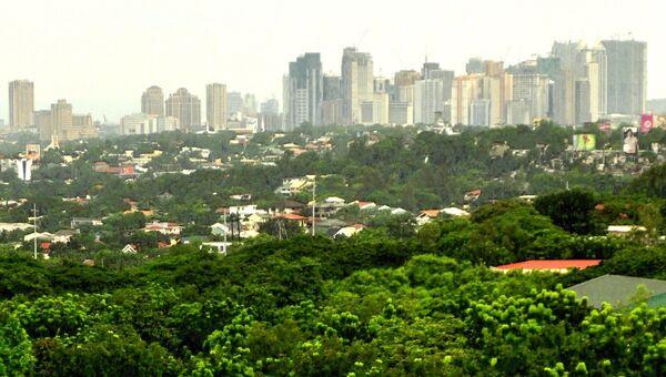 Вид на Манилу с территории университета Атенео-де-Манила на Филиппинах. Архивное фото