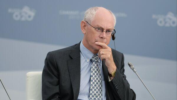 Председатель Европейского совета Херман ван Ромпей. Архивное фото