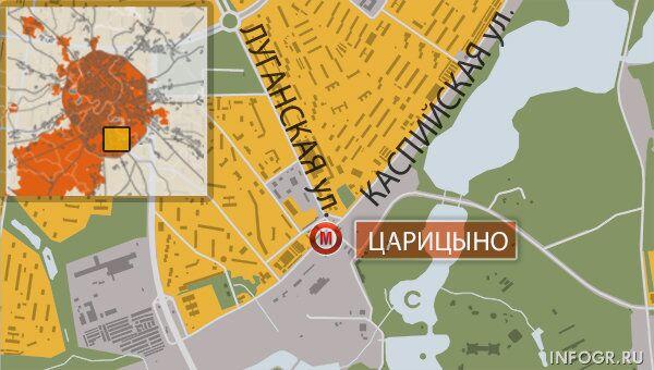 Метро Царицыно. Карта