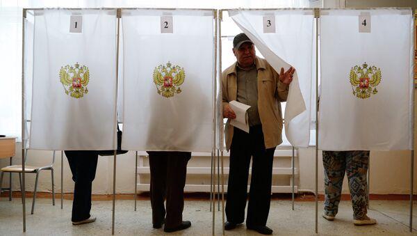 Голосование на выборах в Хакасии. Архивное фото