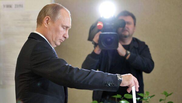 Голосование Владимира Путина на выборах мэра Москвы.
