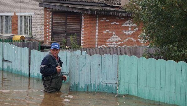 Ситуация в поселке Новый Мир Комсомольского района Хабаровского края, архивное фото