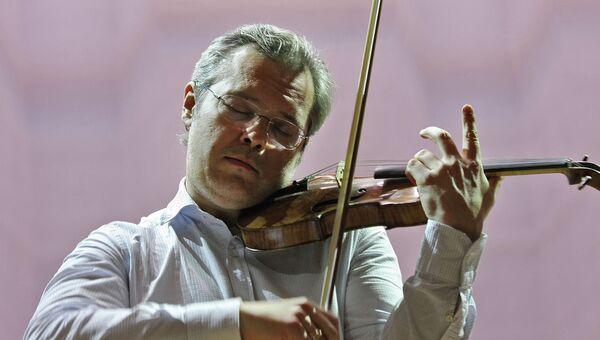 Скрипач Вадим Репин на открытии нового Концертного зала в Новосибирске. Архивное фото