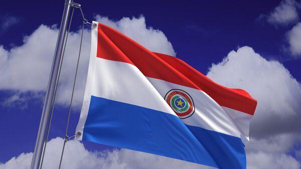 Флаг Парагвая. Архивное фото