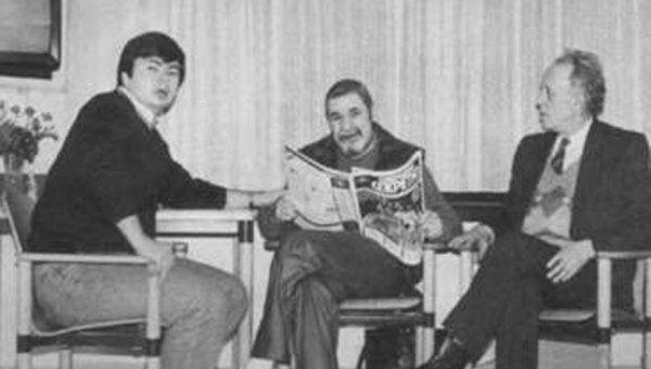 Артем Боровик, Юлиан Семенов и заместитель главного редактора Совершенно секретно Александр Бененсон, 1991 год