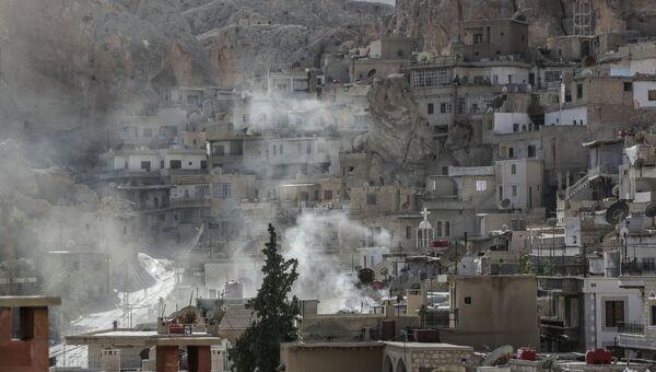 Ситуация в сирийском городе Маалюла. Архивное фото