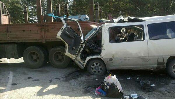 ДТП с маршруткой в Бурятии. Фото с места события