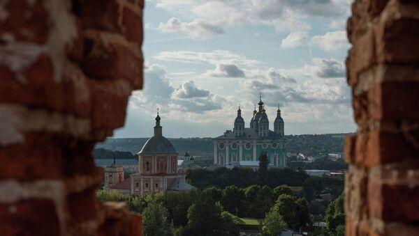 Вид на Соборную гору в Смоленске