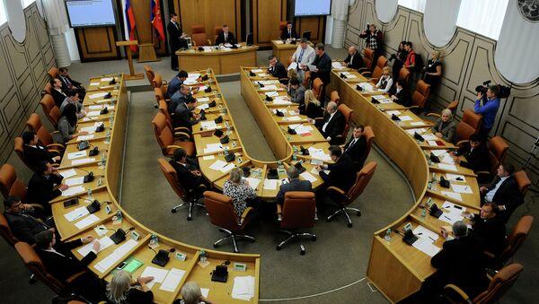 Заседание горсовета Красноярска, фото из архива