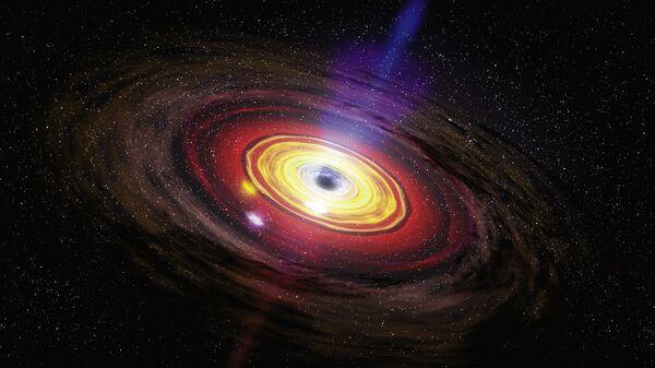 Черная дыра в центре Галактики глазами художника