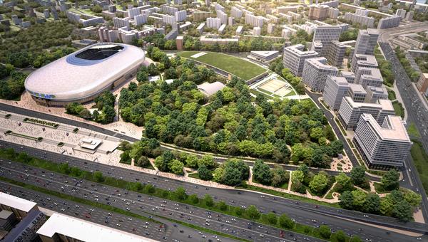 Проект ВТБ Арена парк. Архивное фото