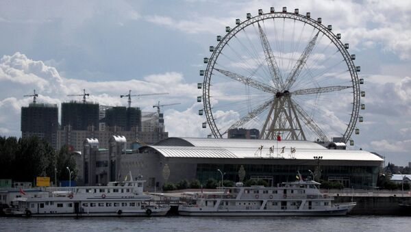 Город Хэйхэ с российского берега. Архивное фото