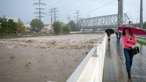 Последствия ливней в Сочи, фото с места события