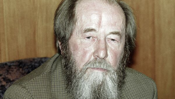 Писатель Александр Солженицын, архивное фото