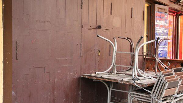 Закрытый бар в районе Думской улицы в Петербурге. Архивное фото