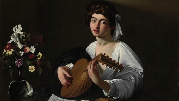 Микеланджело Меризи да Караваджо. Лютнист. Ок. 1596 г.