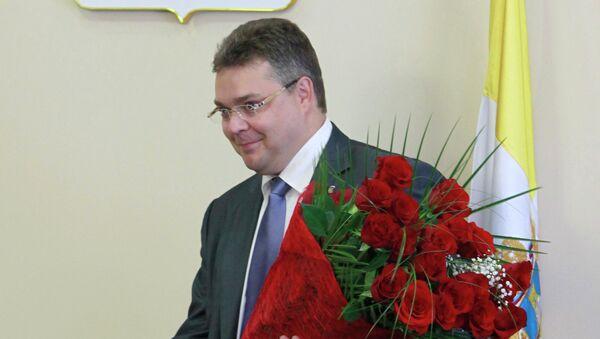 Представление и.о. губернатора Ставрополья В.Владимирова. Фото с места события