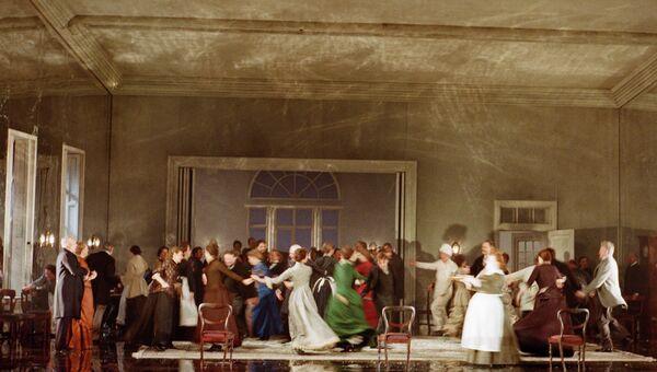 Постановка оперы Чайковского Евгений Онегин на сцене Метрополитен-опера