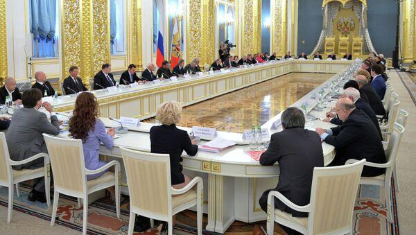 Заседание Совета при президенте РФ по культуре и искусству, архивное фото
