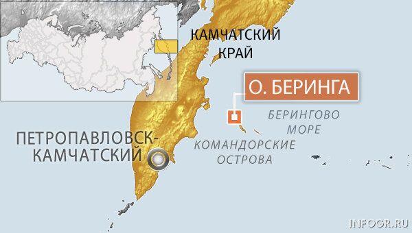 Землетрясение магнитудой 5,8 произошло в районе Командорских островов