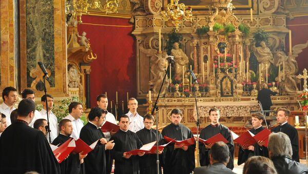 Участники международного музфестиваля Евразия. Хор Визатион.