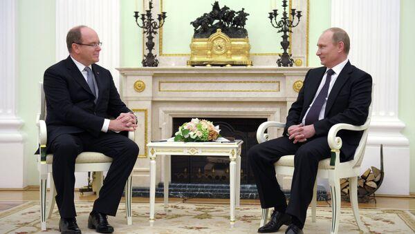 В.Путина провел встречу с князем Монако Альбером II. Архивное фото