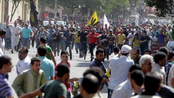 Акция протеста сторонников Муххамеда Мурси в Каире. 4 октября 2013 года