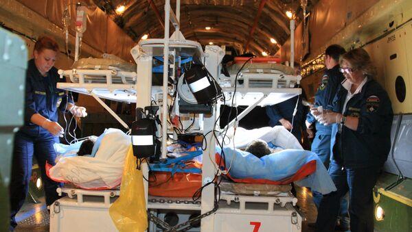 Санитарно-авиационная эвакуация двух мужчин из Назрани в Москву