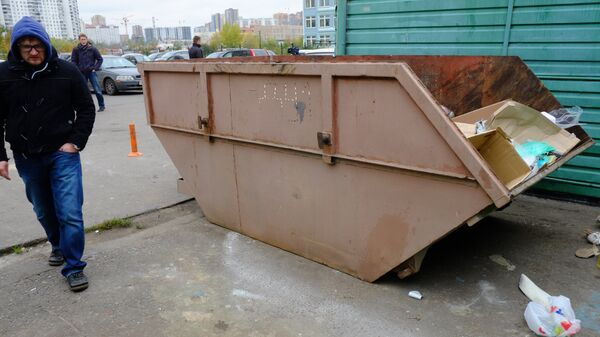 Мусорный контейнер. Архивное фото