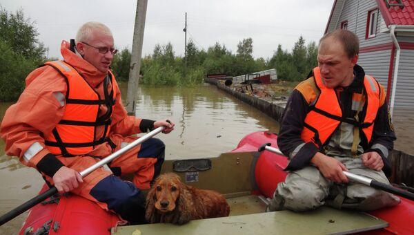Ликвидация наводнения на Дальнем Востоке. Архивное фото