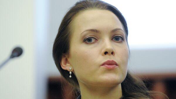 Пресс-секретарь главы Роскосмоса Анна Ведищева, архивное фото