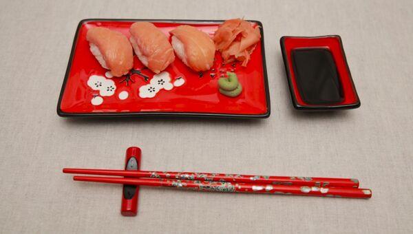 Сяке нигири, или Как сделать классические японские суши с лососем