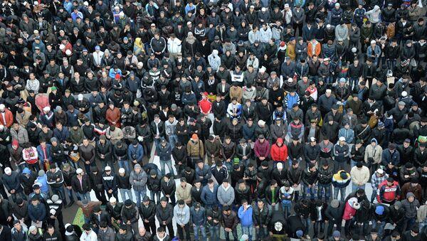 Празднование Курбан-байрам в Москве