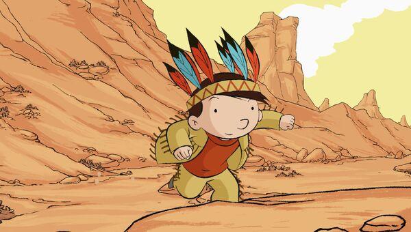 Кадр из мультфильма Моя мама в Америке, она видела Баффало Билла
