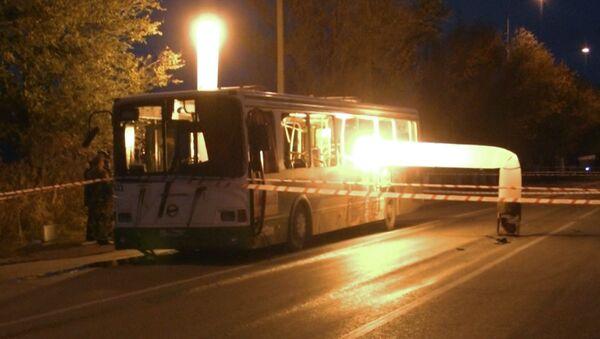 Последствия взрыва пассажирского автобуса в Волгограде, фото с места событий