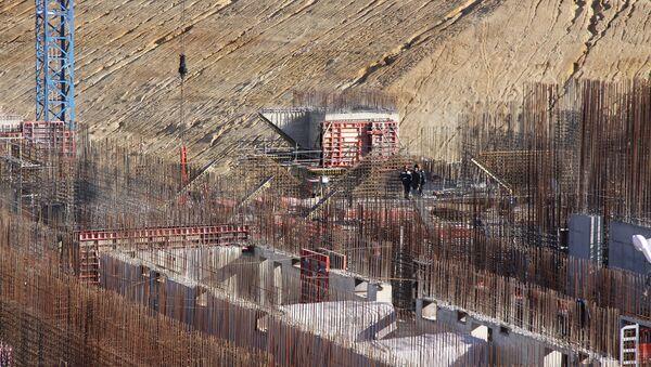 Строительство космодрома Восточный. Площадка стартового стола, архивное фото
