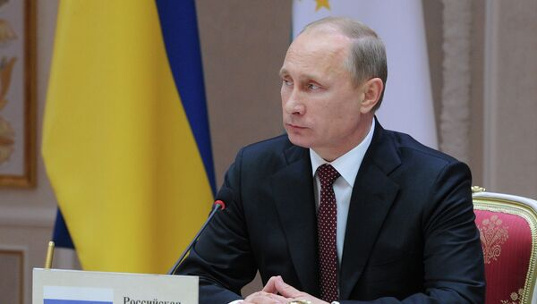 Президент России Владимир Путин на заседании Высшего Евразийского экономического совета. Фото с места события
