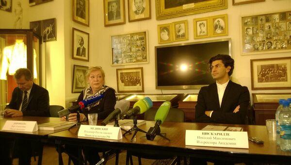 Николай Цискаридзе на пресс-конференции. Фото с места события