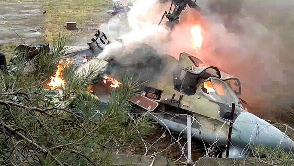 Вертолет Ка-52 упал в районе Выхино-Жулебино на юго-востоке Москвы. Архивное фото