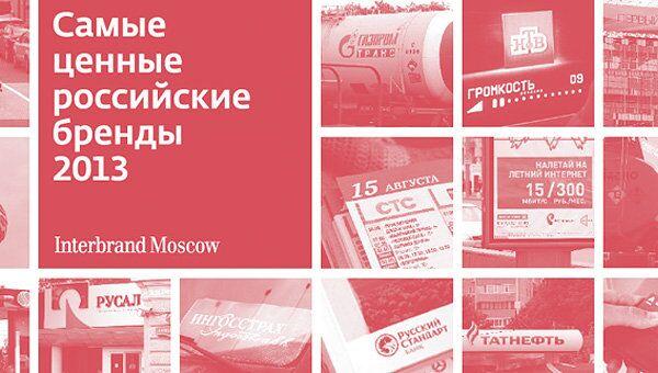 Самые ценные российские бренды - 2013
