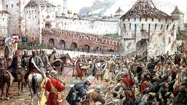 Картина Эрнста Лисснера Изгнание поляков из Кремля