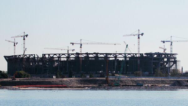 Строительство футбольного стадиона Зенит-Арена на Крестовском острове