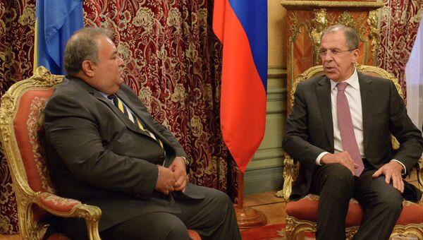Встреча главы МИД РФ С. Лаврова с президентом Республики Науру Б. Уака