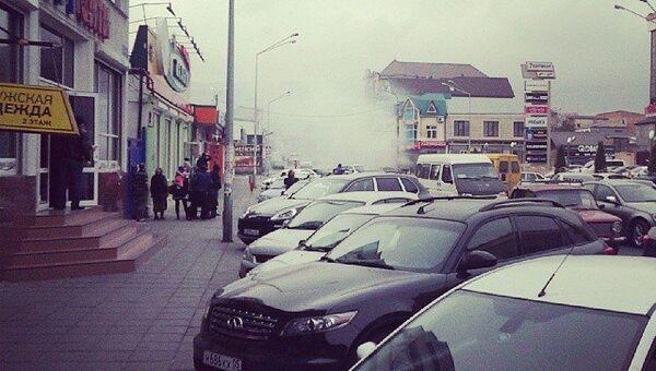 Взрыв в магазине в Махачкале. Фото с места события