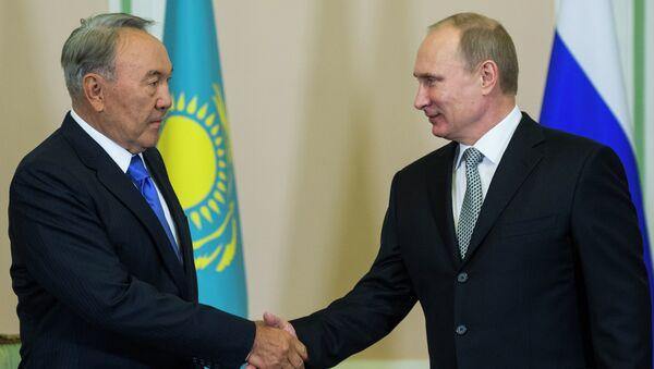Владимир Путин и Нурсултан Назарбаев в Екатеринбурге. Архивное фото.