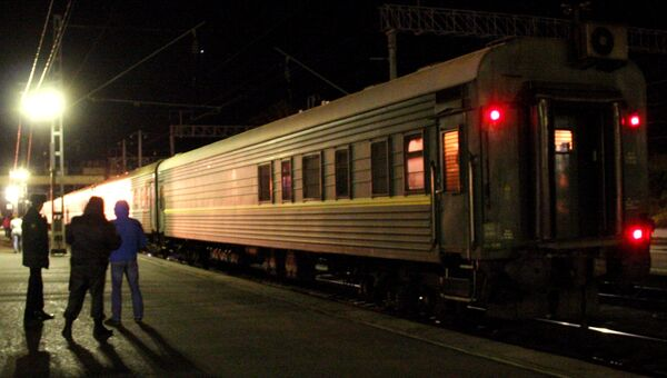 Поезд на станции. Архивное фото