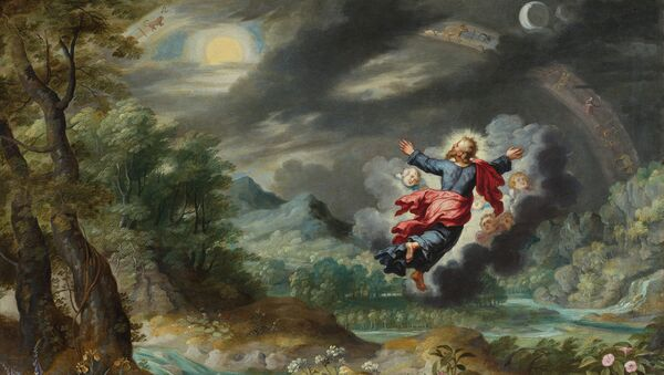 Ян Брейгель-младший. Бог, создающий солнце, луну и звезды на небосводе. Антверпен, 1601 – 1678